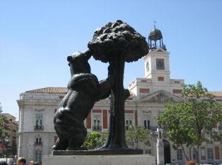 Viajes a Madrid. el oso y el madroño